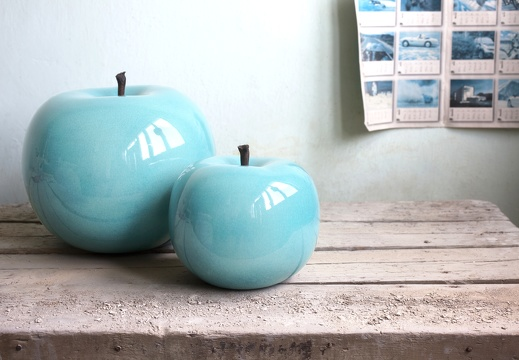 apple turquoiseglazed indoor