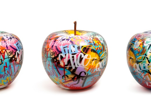 apple graffiti rowof5
