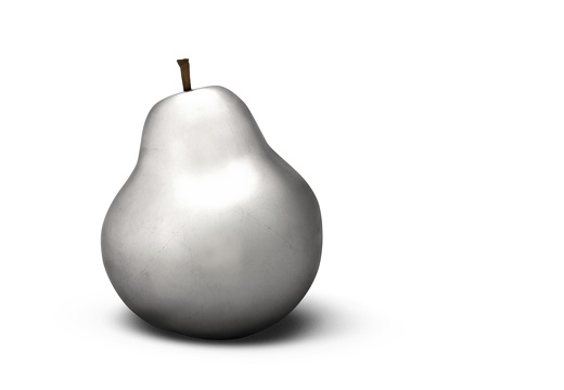 pear silverplated